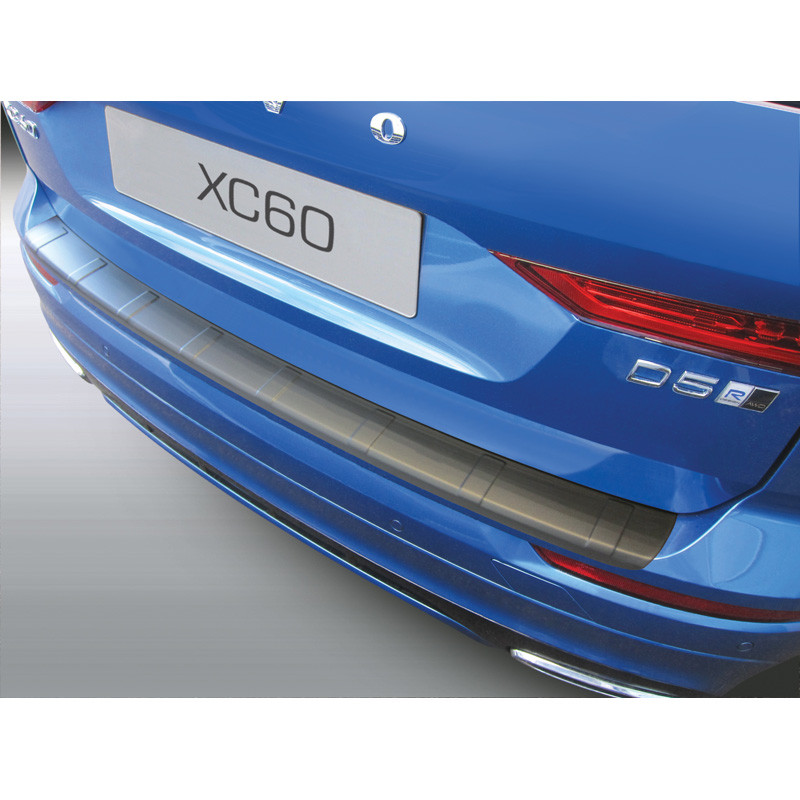 ABS Achterbumper beschermlijst Volvo XC60 2017- 'Ribbed' Zwart | GR RBP690