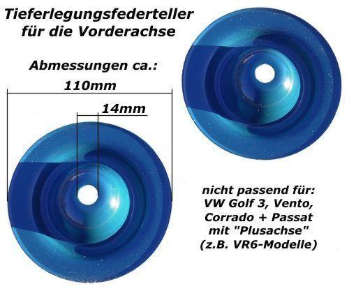 115mm Veerschotelset 15mm verlaging 8/93- Golf III, Corrado en Passat 35i (vooras) | JO 20715