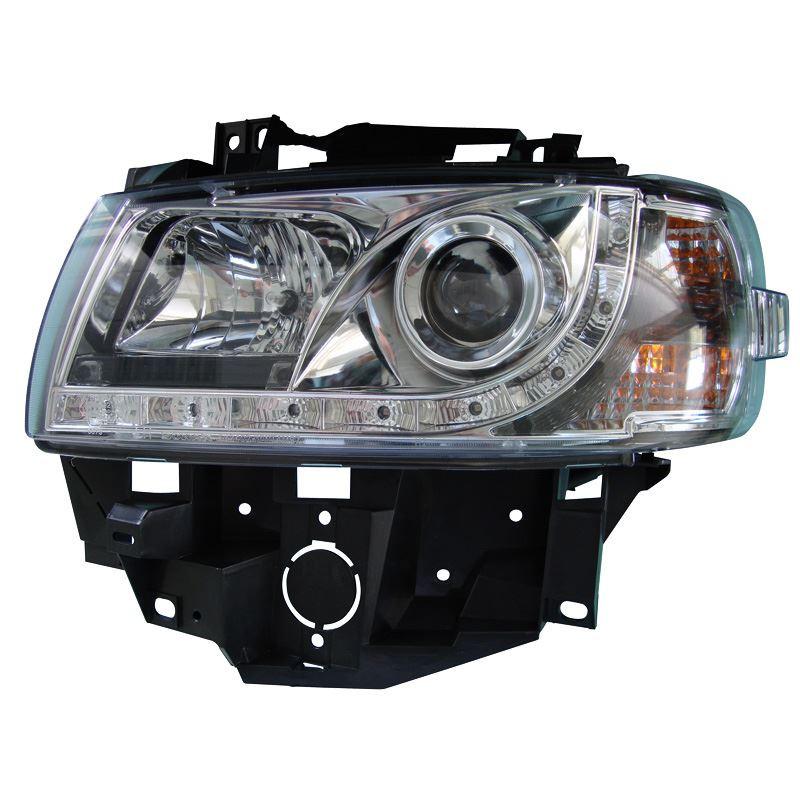 Koplampset DRL-Look VW T4 GP 96-03 chroom | DL VWK61
