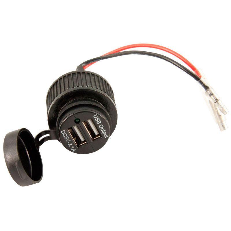 USB adapter met 2 poorten voor inbouw zwart | EU E1093