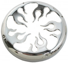 Woofer grille flames chroom 15 inch