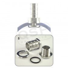 Self-Sealing hose fitting - 16mm alloy | QSEALING 5