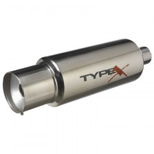 Sportuitlaat Universeel Type X Type IV 6'' Bullet Round Straight | DS 15240
